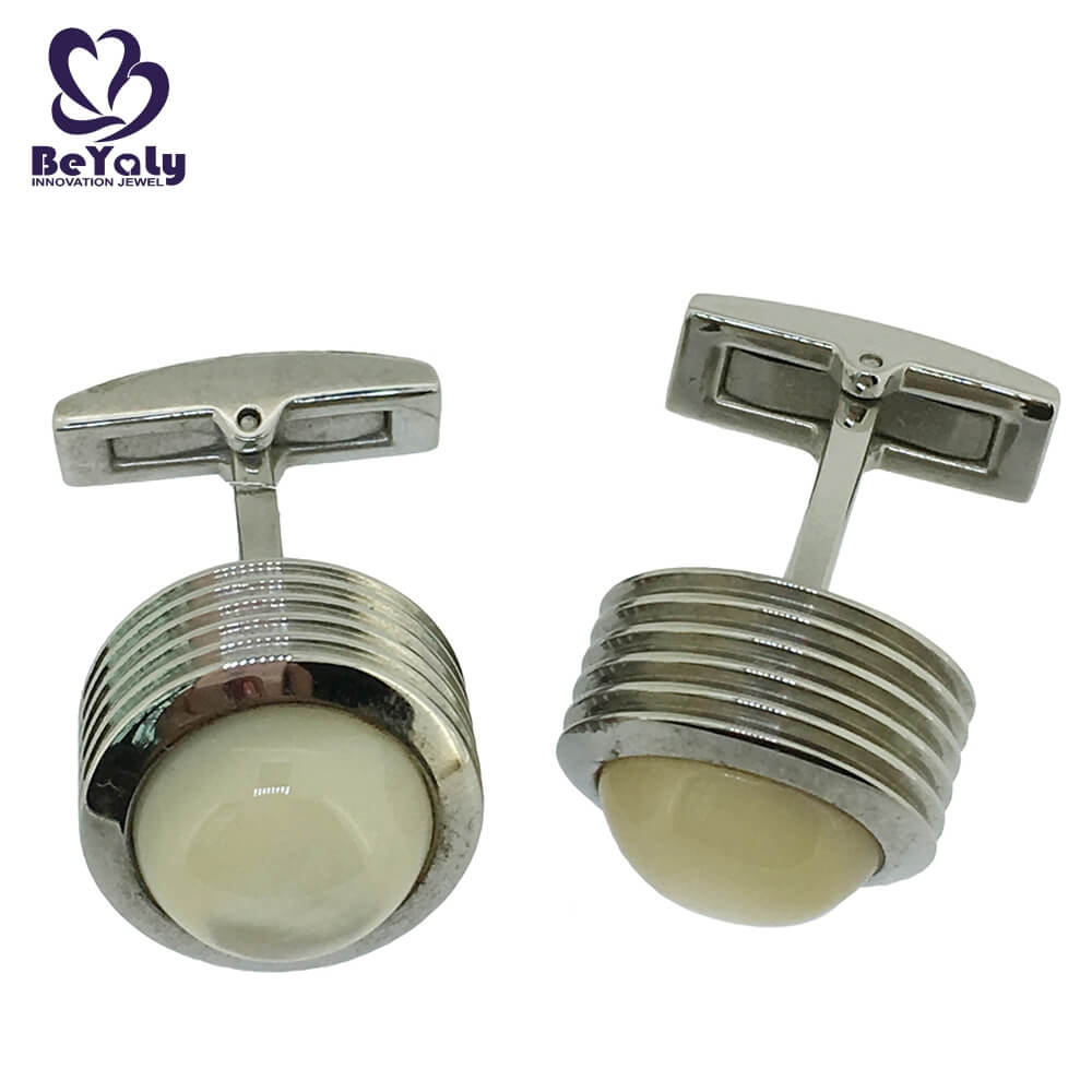 BEYALY brass mens red cufflinks Suppliers for party-2