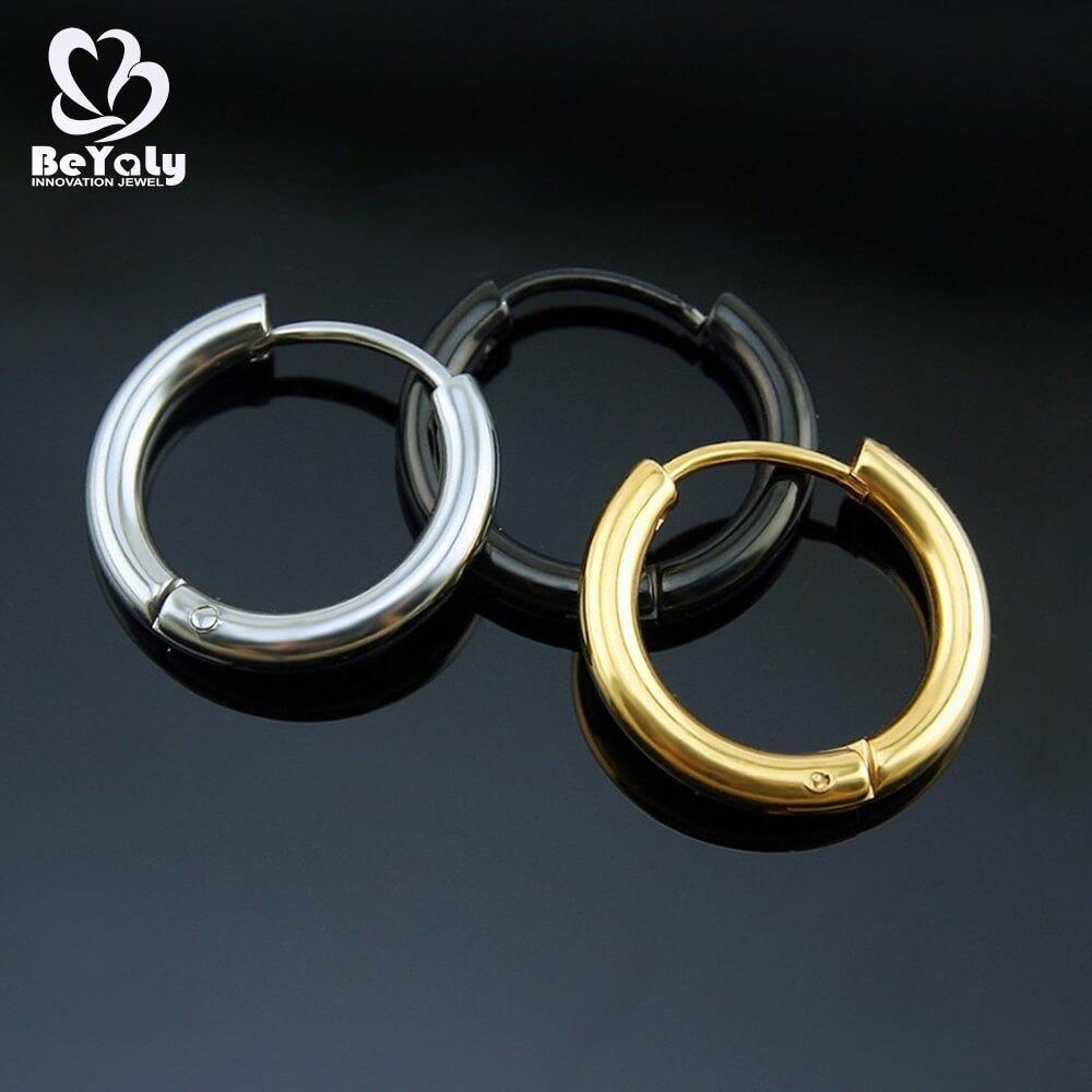 women aaa mini diamond hoop earrings steel pave BEYALY Brand
