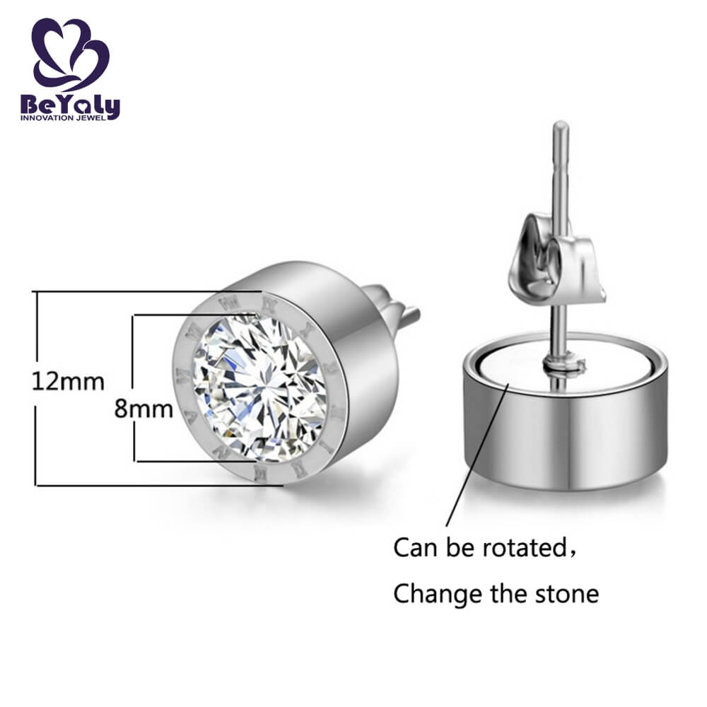 unique circle diamond earrings cz manufacturers for anniversary celebration-1