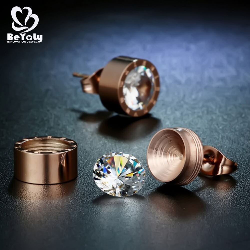 unique circle diamond earrings cz manufacturers for anniversary celebration-2