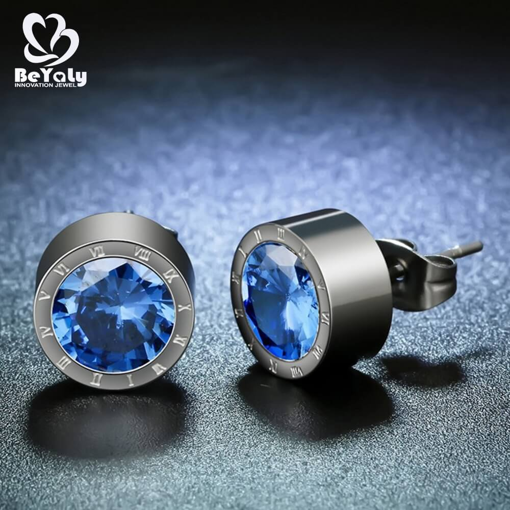 unique circle diamond earrings cz manufacturers for anniversary celebration-3