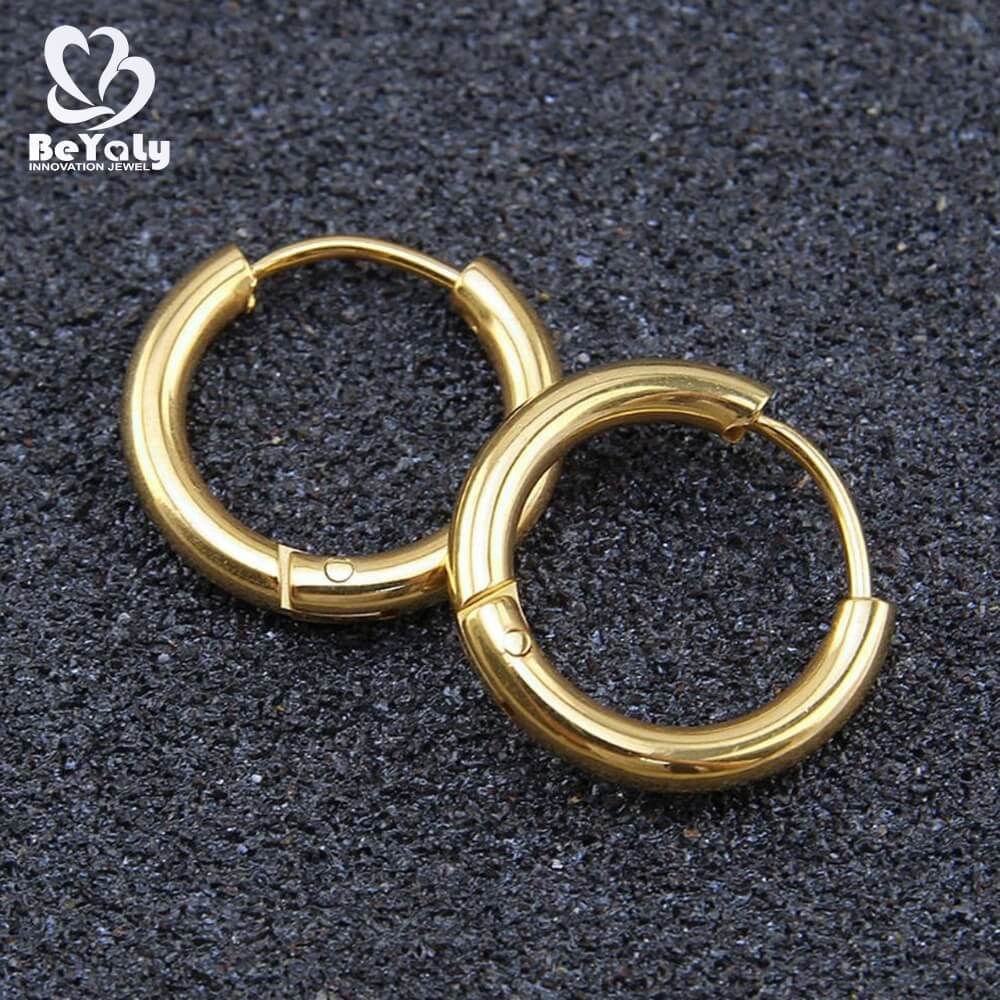 BEYALY circle diamond earrings Suppliers for women-3