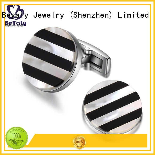 BEYALY brass diamond cufflinks manufacturers for ceremony for advertising promotion