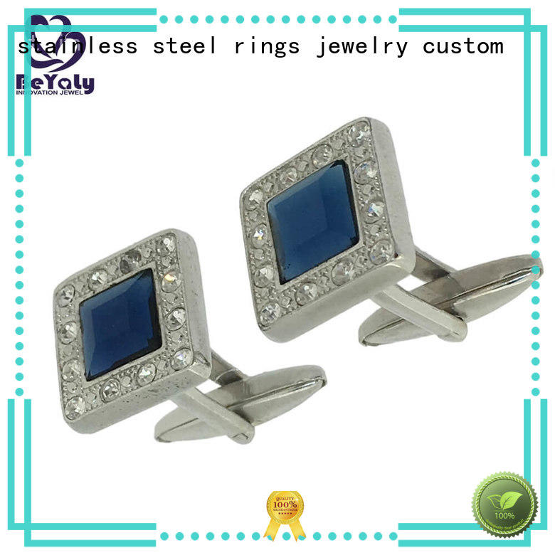 BEYALY stylish sterling silver cufflinks design for anniversary for celebration