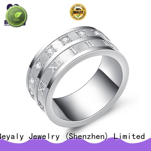 BEYALY Brand stainless bulk custom sterling silver band rings
