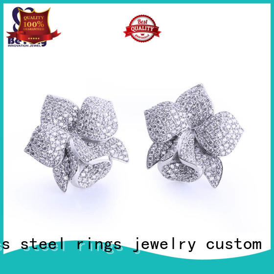 BEYALY flower small silver hoop earrings Suppliers for exhibition
