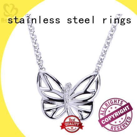Wholesale sterling silver circle pendant necklace tag for business for wife