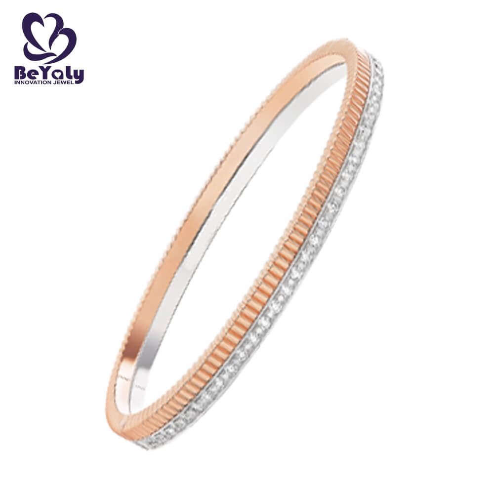 popular solid silver bangles and bracelets colored for business gift-1