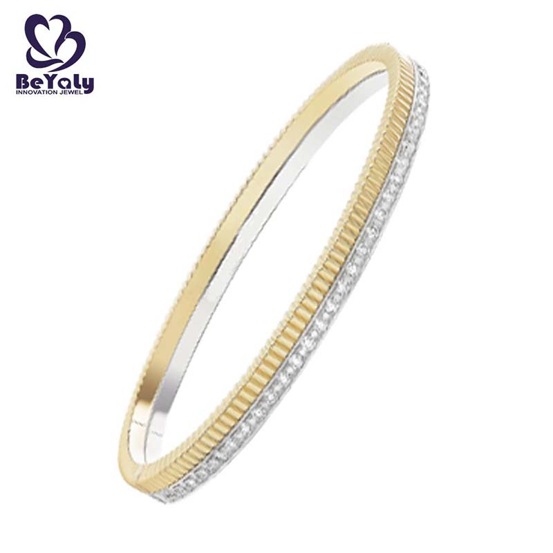 popular solid silver bangles and bracelets colored for business gift-3