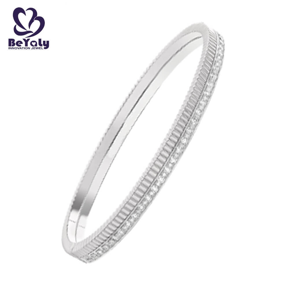 popular solid silver bangles and bracelets colored for business gift-2