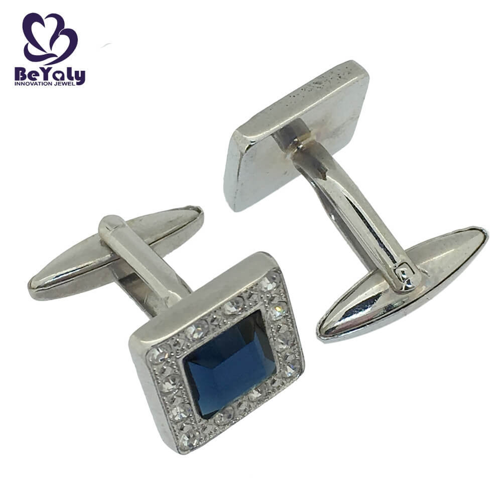 product-Fine quality blue stone square shaped cuff links for men-BEYALY-img-1