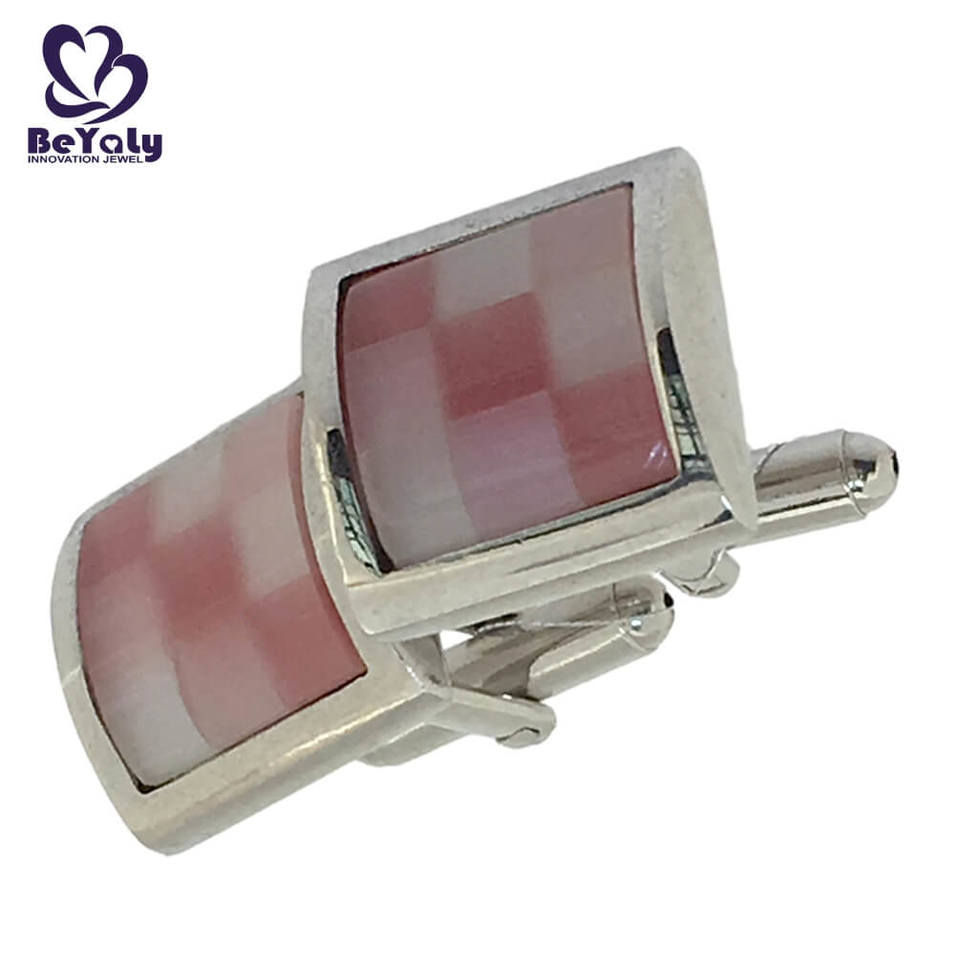 Mesh design wholesale colorful stone brass cufflinks sets