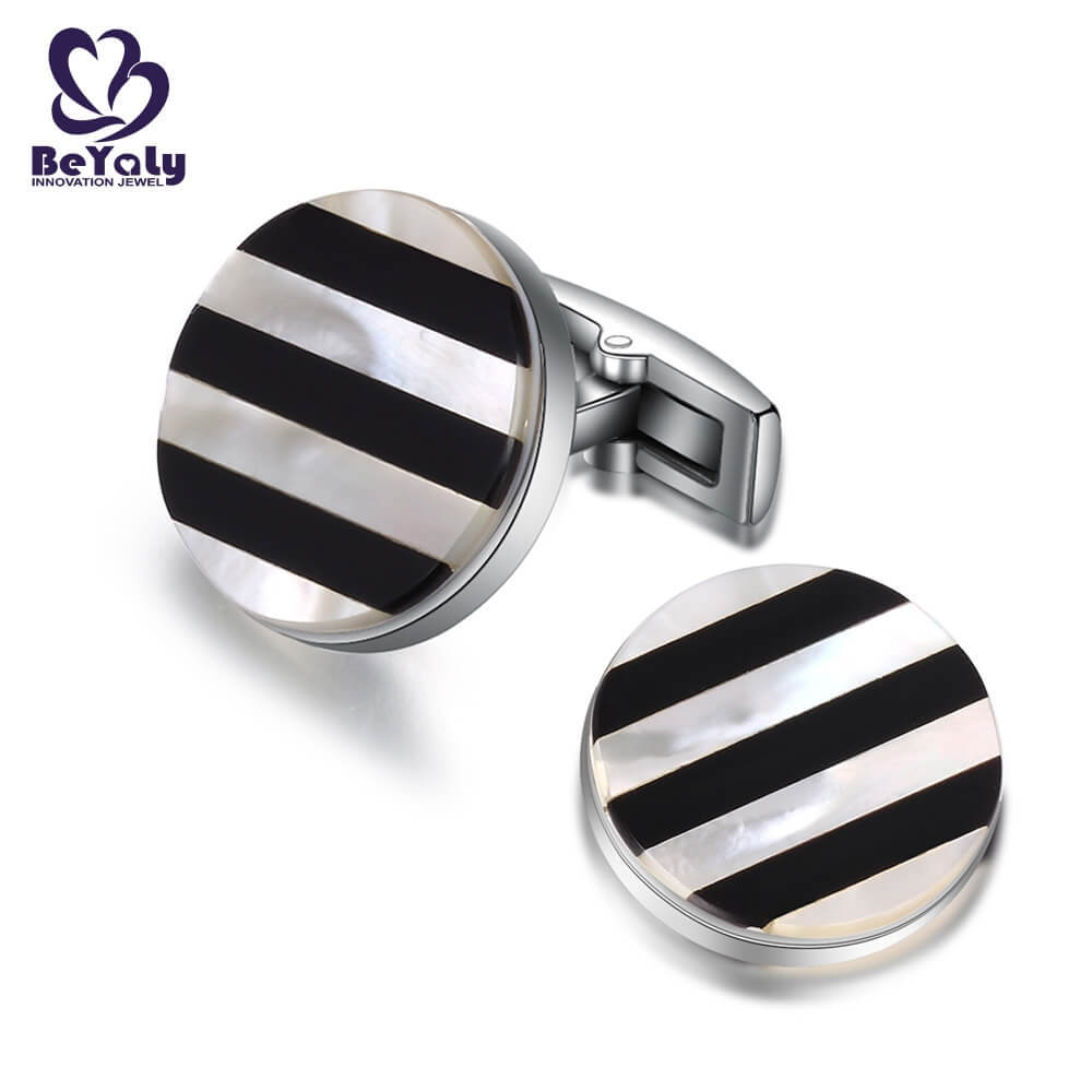 shaped personalised wedding cufflinks mens colorful BEYALY company