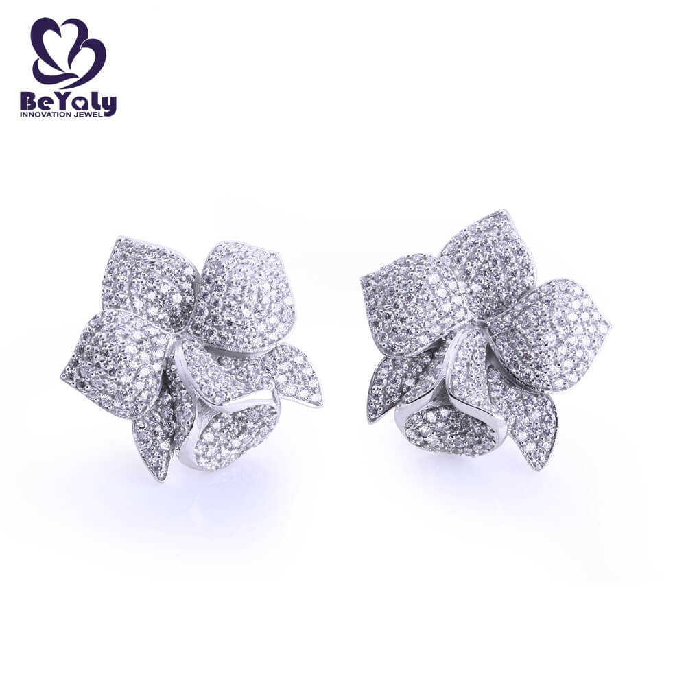 classic silver circle stud earrings 925 for advertising promotion-3