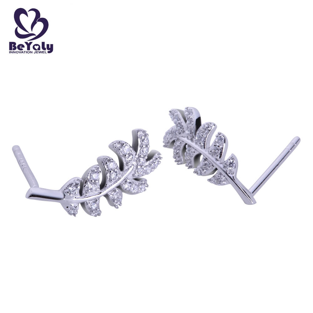 BEYALY steel pearl stud earrings with small diamond factory for advertising promotion-1