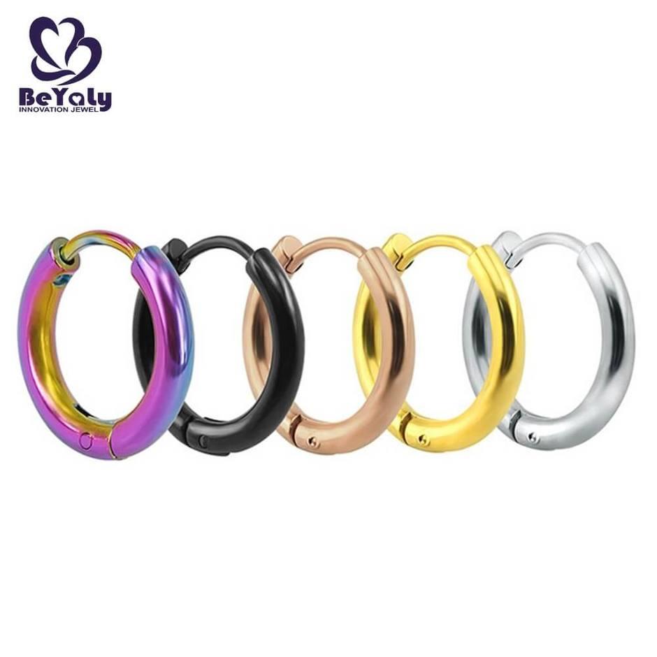 Modern women jewelry small hoop stainless steel earring