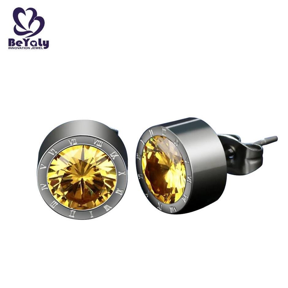 Circle earrings white crystal AAA zircon custom design letters