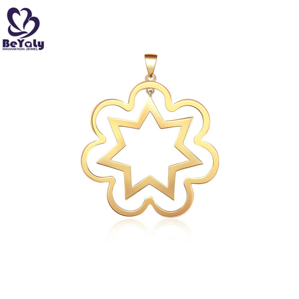 Hot selling jewelry sunflower with star pendant Necklace lovely flowers clavicle