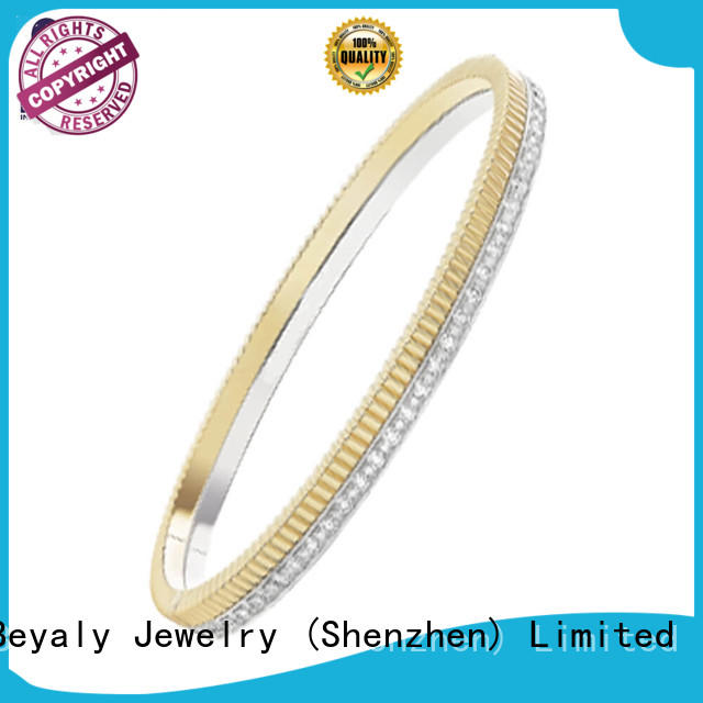 open simple plated initial bracelets BEYALY Brand company