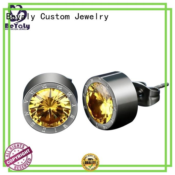 BEYALY earring silver circle stud earrings manufacturers for business gift