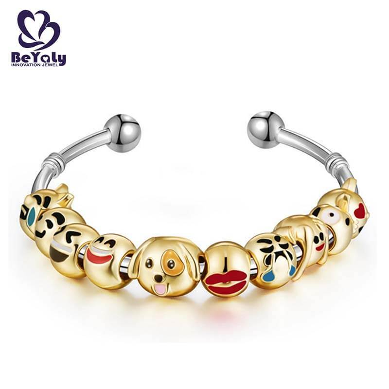 BEYALY leather silver bangle bracelets sets for advertising promotion-2