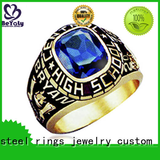 stone gold plated ring directly price for school BEYALY