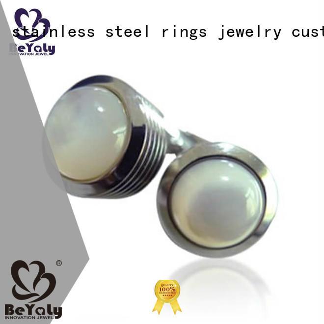 gold wedding cufflinks white BEYALY Brand personalised wedding cufflinks