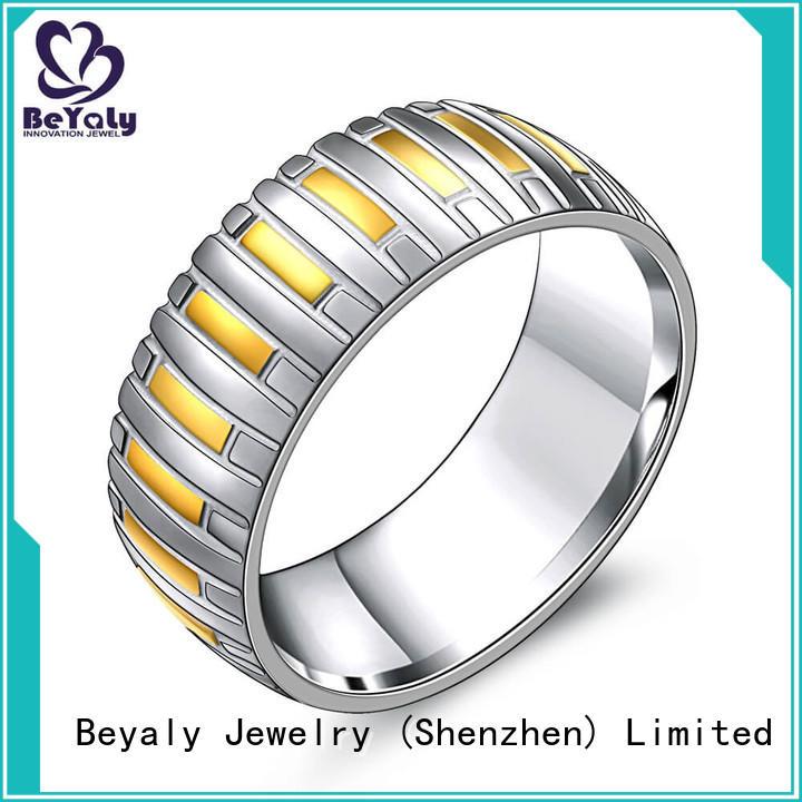 BEYALY Custom popular diamond ring styles manufacturers for men