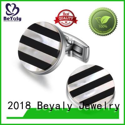 brass Custom fine mesh personalised wedding cufflinks BEYALY mens