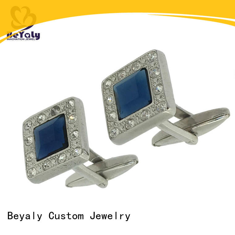 BEYALY blue create your own cufflinks factory for ceremony for advertising promotion