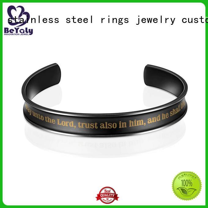stacking wind leaf initial bracelets black BEYALY