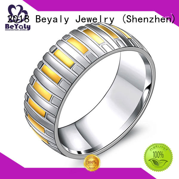Hot platinum band ring stainless BEYALY Brand