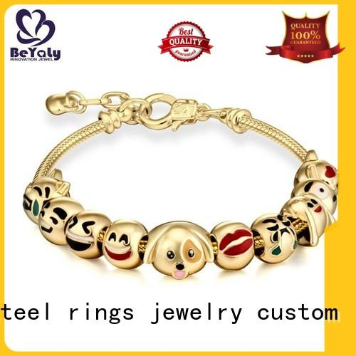 BEYALY leather silver bangle bracelets sets for advertising promotion