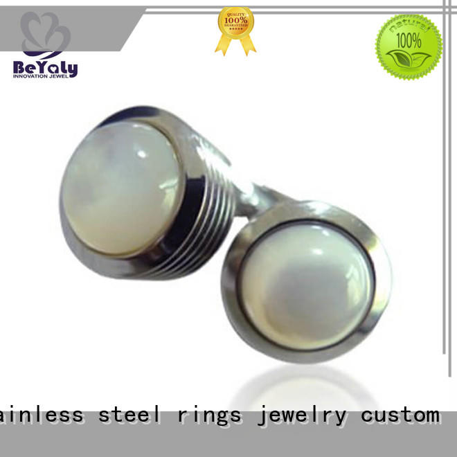 quality mens diamond cufflinks white for party BEYALY