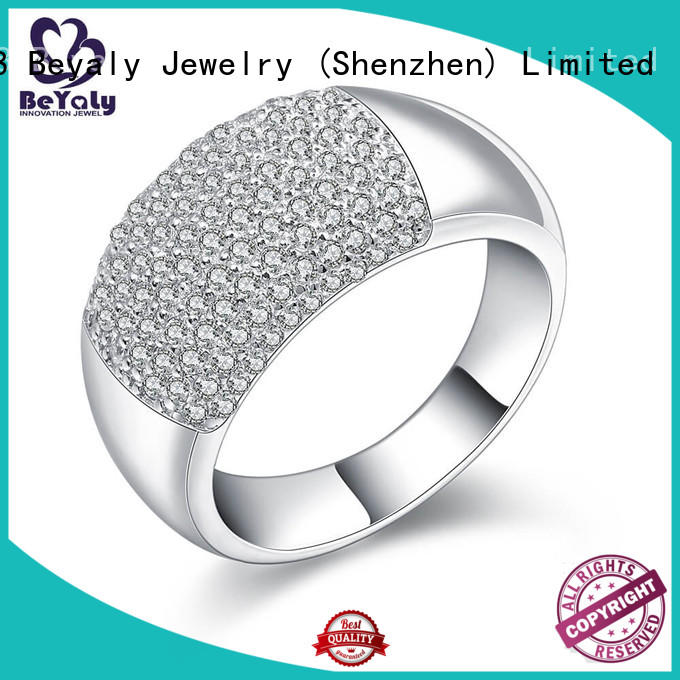 BEYALY promise sterling silver cubic zirconia rings aaa for women