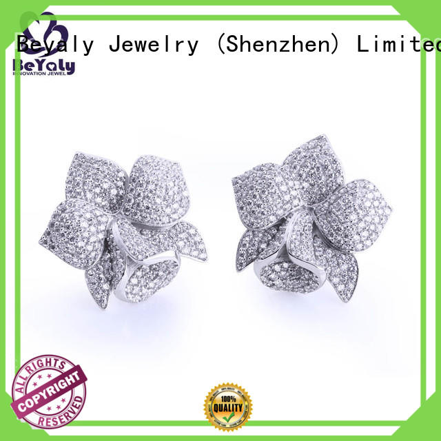 Top silver circle stud earrings clear manufacturers for business gift