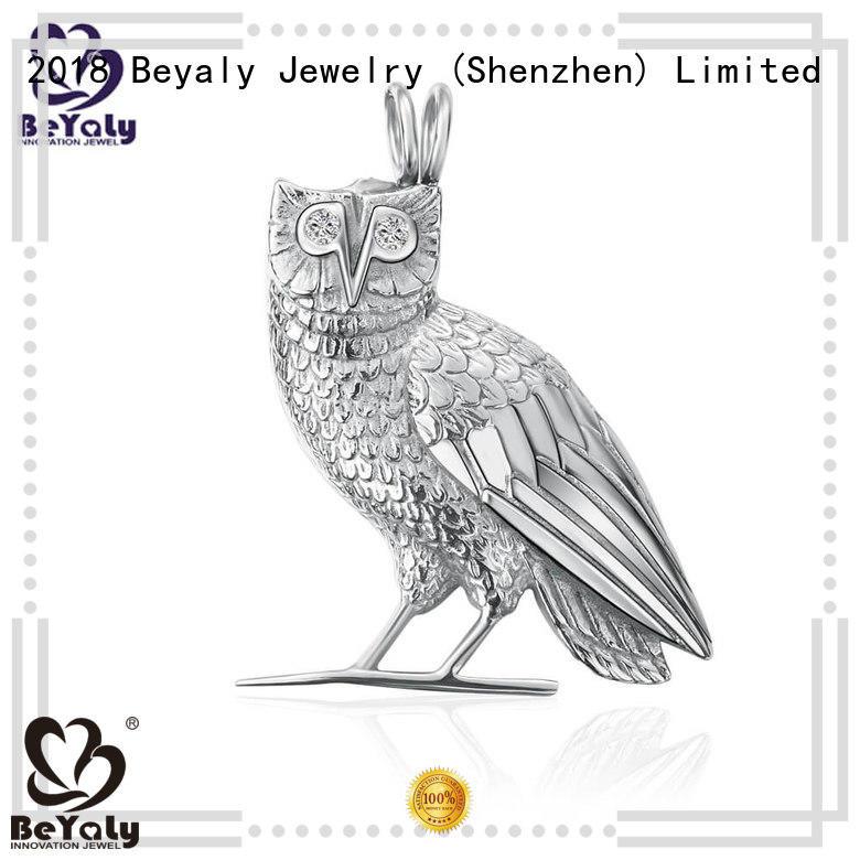blank Custom pendants sterling silver bezel pendant blanks clover BEYALY