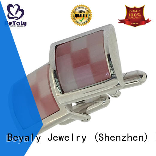 BEYALY blue blue silver cufflinks for party