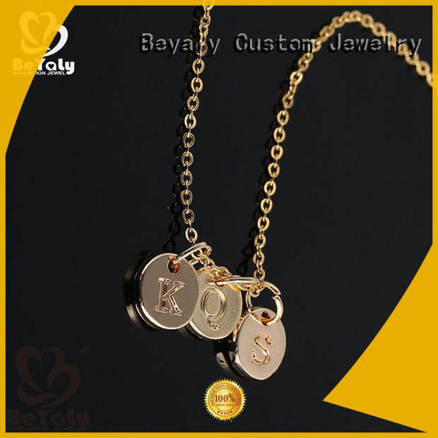 BEYALY pegasus dog tag necklace for ladies