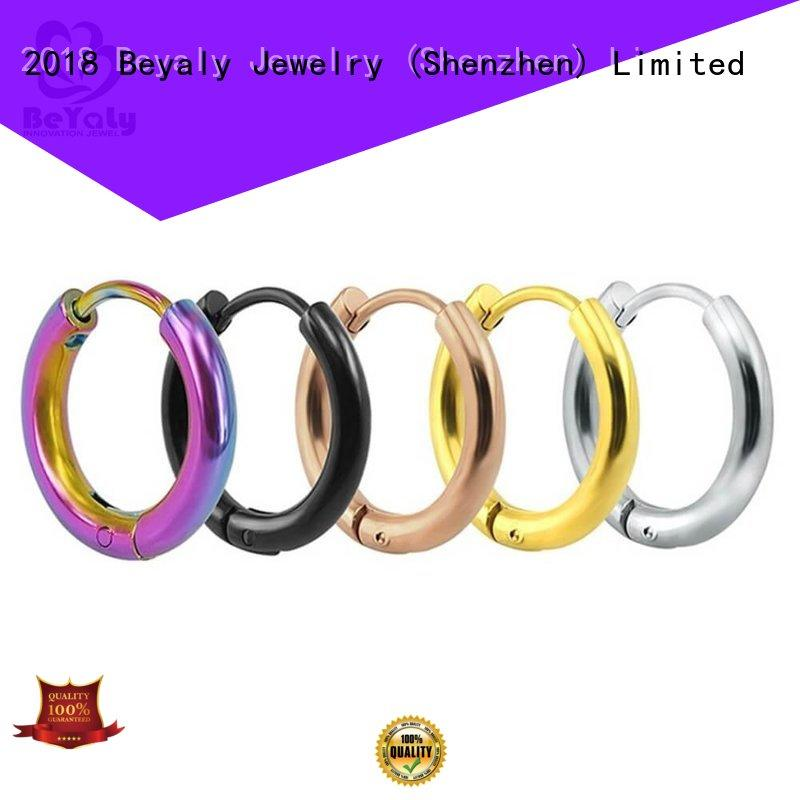 BEYALY feather circle diamond earrings promotion for women