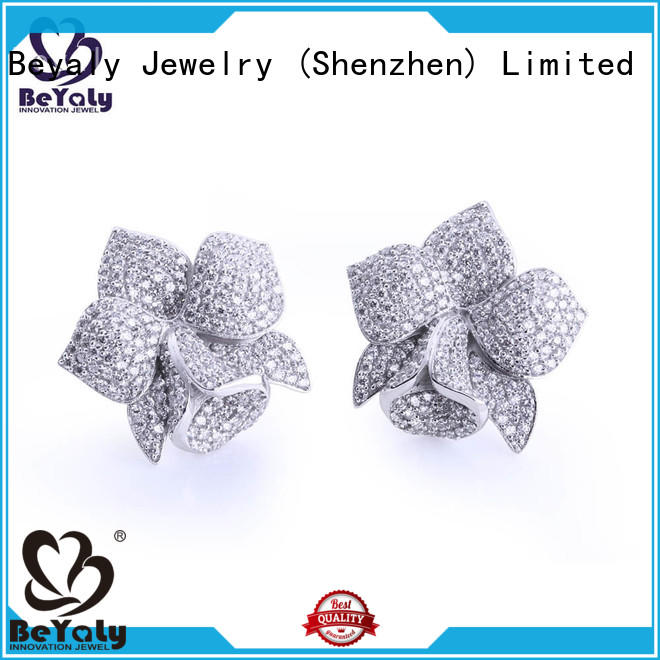 gemstone cz earring sets for exhibition BEYALY