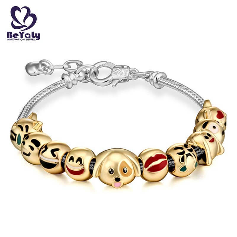 BEYALY leather silver bangle bracelets sets for advertising promotion-3