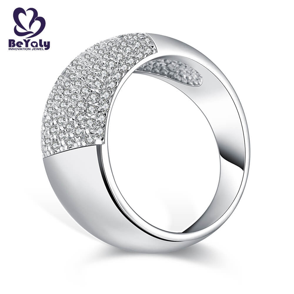 High-quality platinum diamond band ring numerals Supply for men-1