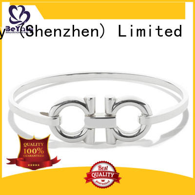 BEYALY Brand silver party custom initial cuff bracelet