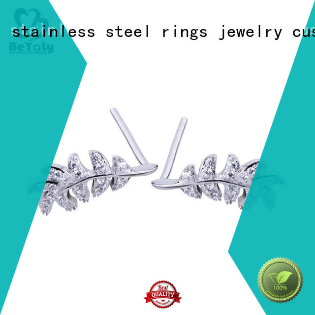 BEYALY clear cubic zirconia stud earrings factory for advertising promotion