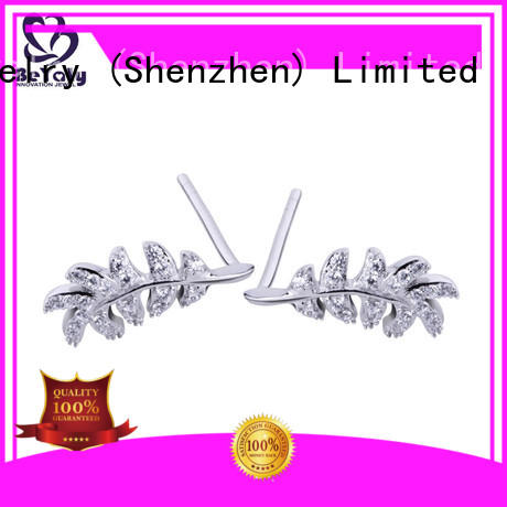 artificial zircon earring circle for business gift BEYALY