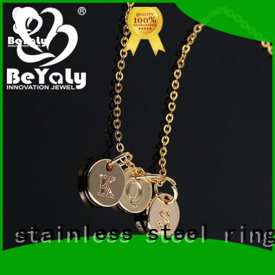 unique jewel pendant necklace initial Supply for wife