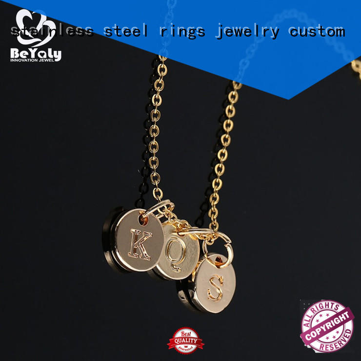 BEYALY jewel pendant necklace letter for girls