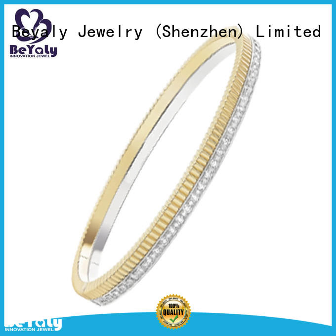 BEYALY 304l silver cuff bracelet for business gift