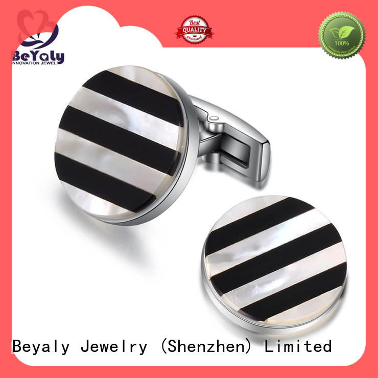 BEYALY stripe custom cufflinks manufacturers for ceremony for advertising promotion